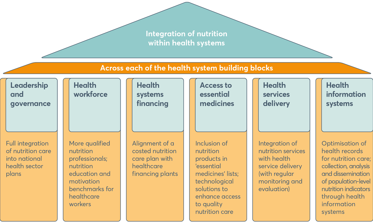FIGURE 3.1 Framework for equitable integration of nutrition within health systems