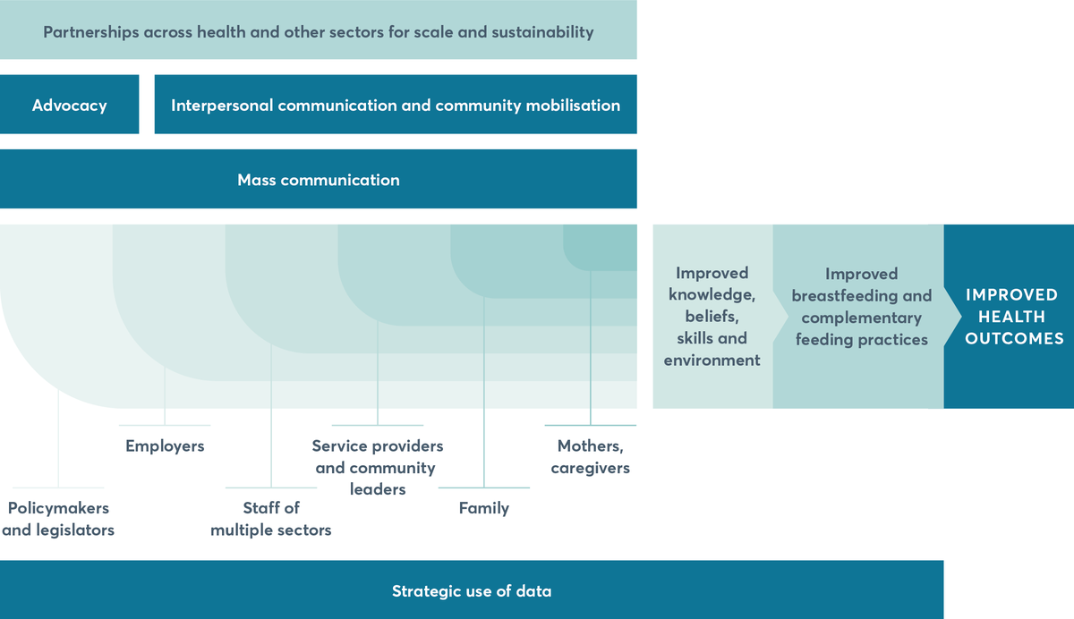FIGURE 4.3 Framework for implementing infant and young child feeding programmes at scale